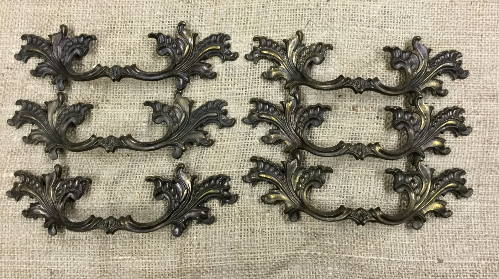 Vintage French Provencial Drawer Pull Set FREE SHIPPING